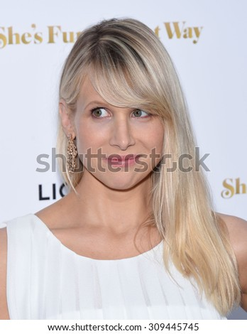 "LOS ANGELES - AUG 19:  Lucy Punch arrives to the ""She's Funny That Way"" Los Angeles Premiere  on August 19, 2015 in Hollywood, CA"