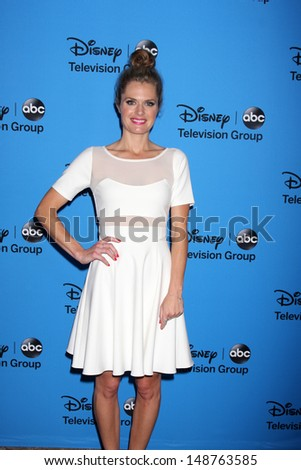 LOS ANGELES - AUG 4:  Maggie Lawson arrives at the ABC Summer 2013 TCA Party at the Beverly Hilton Hotel on August 4, 2013 in Beverly Hills, CA - stock photo