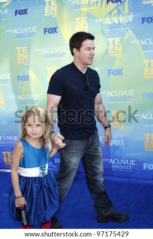 LOS ANGELES - AUG 7: Mark Wahlberg arrives at the 2011 Teen Choice Awards held at Gibson Amphitheatre on August 7, 2011 in Los Angeles, California - stock photo