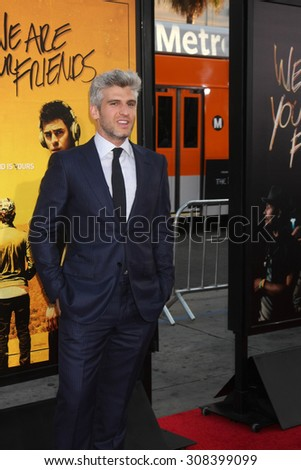 "LOS ANGELES - AUG 20:  Max Joseph at the ""We are Your Friends"" Los Angeles Premiere at the TCL Chinese Theater on August 20, 2015 in Los Angeles, CA - stock photo"
