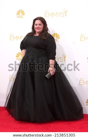 LOS ANGELES - AUG 25:  Melissa McCarthy at the 2014 Primetime Emmy Awards - Arrivals at Nokia at LA Live on August 25, 2014 in Los Angeles, CA - stock photo