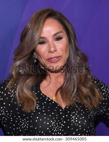 LOS ANGELES - AUG 12:  Melissa Rivers arrives to the arrives to the Summer 2015 TCA's - NBCUniversal  on August 12, 2015 in Beverly Hills, CA                 - stock photo