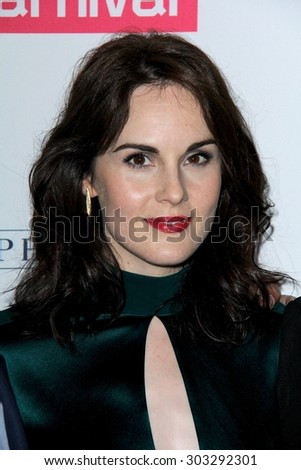 """LOS ANGELES - AUG 1:  Michelle Dockery at the """"Downton Abbey"""" Photo Call at the Beverly Hilton Hotel on August 1, 2015 in Beverly Hills, CA - stock photo"""
