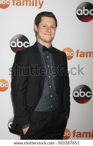 LOS ANGELES - AUG 4:  Noah Reid at the ABC TCA Summer Press Tour 2015 Party at the Beverly Hilton Hotel on August 4, 2015 in Beverly Hills, CA - stock photo