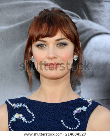 "LOS ANGELES - AUG 13:  Olga Kurylenko arrives to the ""The November Man"" World Premiere  on August 13, 2014 in Hollywood, CA.                 - stock photo"