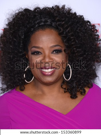 "LOS ANGELES - AUG 12:  Oprah Winfrey arrives to ""The Butler"" Los Angeles Premiere  on August 12, 2013 in Los Angeles, CA                 - stock photo"