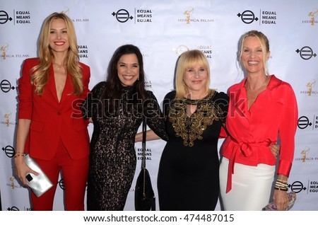 "LOS ANGELES - AUG 26:  Petra Nemcova, Kamala Lopez, Patricia Arquette, Nicolette Sheridan at the ""Equal Means Equal"" Screening at the Laemmle's Music Hall on August 26, 2016 in Beverly Hills, CA"