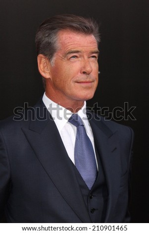 "LOS ANGELES - AUG 13:  Pierce Brosnan at ""The November Man"" Premiere at TCL Chinese Theater on August 13, 2014 in Los Angeles, CA"