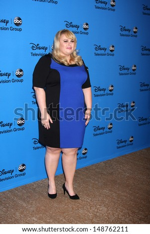 LOS ANGELES - AUG 4:  Rebel Wilson arrives at the ABC Summer 2013 TCA Party at the Beverly Hilton Hotel on August 4, 2013 in Beverly Hills, CA