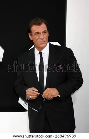 "LOS ANGELES - AUG 11:  Robert Davi at the ""Expendables 3"" Premiere at TCL Chinese Theater on August 11, 2014 in Los Angeles, CA  - stock photo"