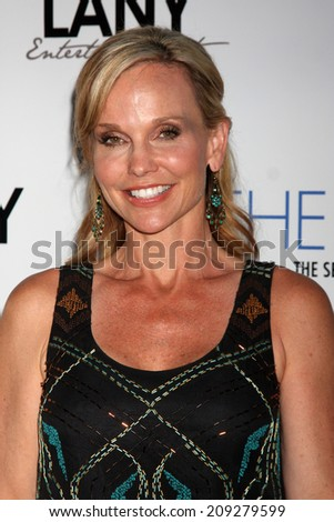 "LOS ANGELES - AUG 4:  Sandra Dee Robinson at the ""The Bay"" Red Carpet Extravaganza at the Open Air Kitchen + Bar on August 4, 2014 in West Hollywood, CA"