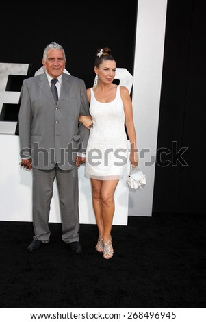 "LOS ANGELES - AUG 11:  Sandra Vidal, father at the ""Expendables 3"" Premiere at TCL Chinese Theater on August 11, 2014 in Los Angeles, CA  - stock photo"