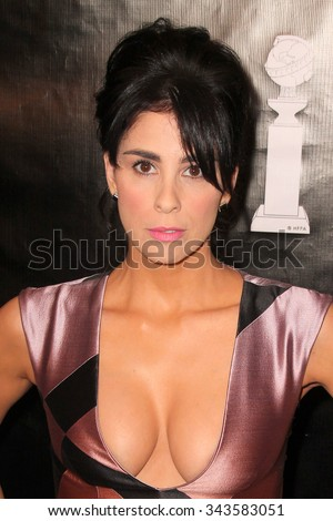 LOS ANGELES - AUG 13:  Sarah Silverman at the HFPA Hosts Annual Grants Banquet - Arrivals at the Beverly Wilshire Hotel on August 13, 2015 in Beverly Hills, CA - stock photo