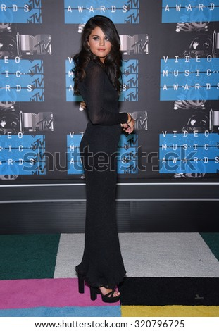 LOS ANGELES - AUG 30:  Selena Gomez 2015 MTV Video Music Awards - Arrivals  on August 30, 2015 in Hollywood, CA                 - stock photo