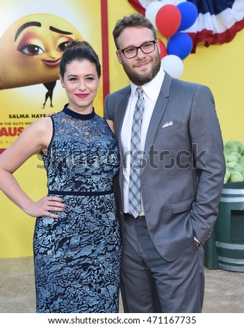 "LOS ANGELES - AUG 09:  Seth Rogen and Lauren Miller arrives to the ""Sausage Party"" Los Angeles Premiere on August 09, 2016 in Westwood, CA"