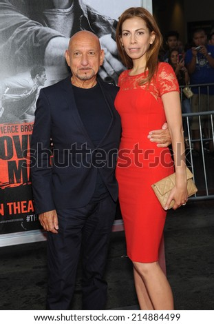 "LOS ANGELES - AUG 13:  Sir Ben Kingsley arrives to the ""The November Man"" World Premiere  on August 13, 2014 in Hollywood, CA.                 - stock photo"