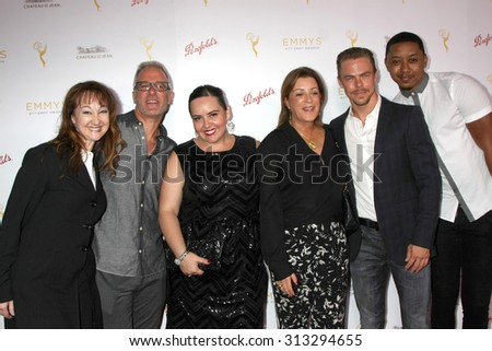 LOS ANGELES - AUG 30:  Tessandra Chavez, Derek Hough at the TV Academy Choreography Peer Reception at the Montage Hotel on August 30, 2015 in Beverly Hills, CA