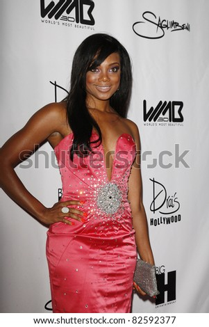 LOS ANGELES - AUG 10: Tiffany Hines at the World's Most Beautiful Magazine Launch Event at Drai's in Los Angeles, California on August 10, 2011 - stock photo