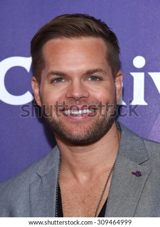 LOS ANGELES - AUG 12:  Wes Chatham arrives to the arrives to the Summer 2015 TCA's - NBCUniversal  on August 12, 2015 in Beverly Hills, CA                 - stock photo