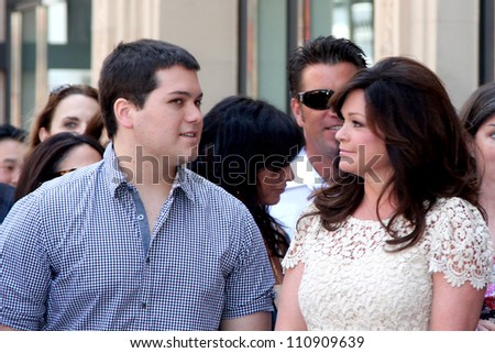 LOS ANGELES - AUG 22:  Wolfgang Van Halen, Valerie Bertinelli at the ceremony for Valerie Bertinelli Hollywood Walk of Fame Star at Hollywood Blvd. on August 22, 2012 in Los Angeles, CA