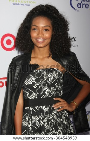 LOS ANGELES - AUG 8:  Yara Shahidi at the 17th Annual HollyRod Designcare Gala at the The Lot on August 8, 2015 in West Hollywood, CA - stock photo
