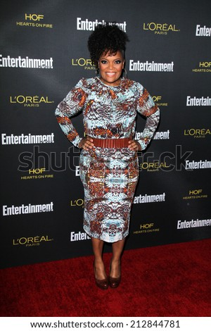 LOS ANGELES - AUG 23:  Yvette Nicole Brown at the 2014 Entertainment Weekly Pre-Emmy Party at Fig & Olive on August 23, 2014 in West Hollywood, CA - stock photo
