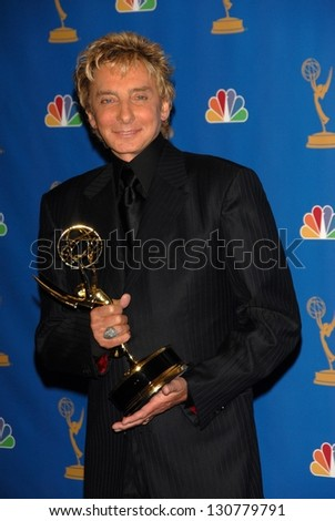 LOS ANGELES - AUGUST 27: Barry Manilow in the Press Room at the 58th Annual Primetime Emmy Awards in The Shrine Auditorium August 27, 2006 in Los Angeles, CA. - stock photo