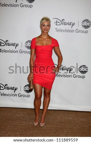 LOS ANGELES - AUGUST 1:  Morena Baccarin arrive(s) at the 2010 ABC Summer Press Tour Party at Beverly Hilton Hotel on August 1, 2010 in Beverly Hills, CA. - stock photo