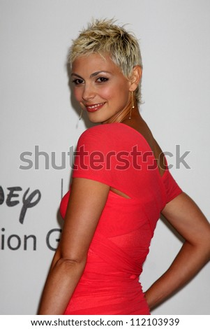 LOS ANGELES - AUGUST 1:  Morena Baccarin arrive(s) at the 2010 ABC Summer Press Tour Party at Beverly Hilton Hotel on August 1, 2010 in Beverly Hills, CA... - stock photo