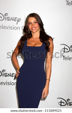 LOS ANGELES - AUGUST 1:  Sofia Vergara arrive(s) at the 2010 ABC Summer Press Tour Party at Beverly Hilton Hotel on August 1, 2010 in Beverly Hills, CA. - stock photo