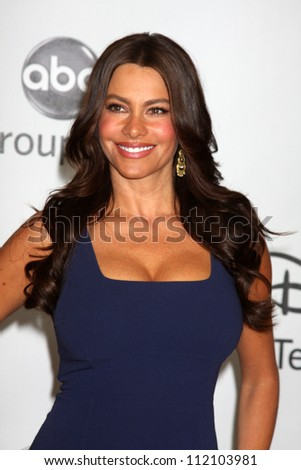LOS ANGELES - AUGUST 1:  Sofia Vergara arrive(s) at the 2010 ABC Summer Press Tour Party at Beverly Hilton Hotel on August 1, 2010 in Beverly Hills, CA... - stock photo