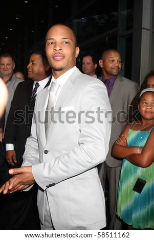 "LOS ANGELES - AUGUST 4:  Tip ""T.I. "" Harris arrives at the ""Takers"" World Premiere at ArcLight Cinerama Dome Theater on August 4, 2010 in Los Angeles, CA"