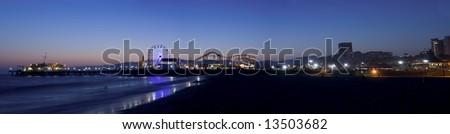 Los Angeles beach panoramic - stock photo