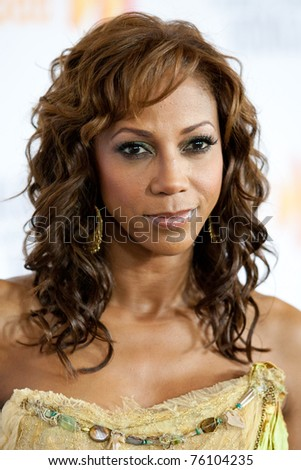 LOS ANGELES, CA. - APR 17: Actress Holy Robinson Peete arrives at the 21st Annual GLAAD Media Awards at Hyatt Regency Century Plaza Hotel on April 17, 2010 in Los Angeles, CA.