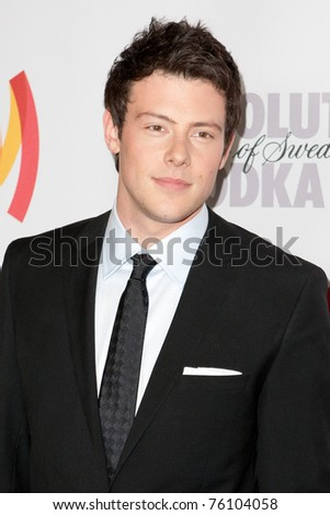 LOS ANGELES, CA. - APR 17: Cory Monteith arrives at the 21st Annual GLAAD Media Awards at Hyatt Regency Century Plaza Hotel on April 17, 2010 in Los Angeles, CA.