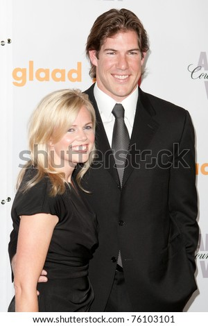 LOS ANGELES, CA. - APR 17: NFL linebacker Scott Fujita and his wife arrive at the 21st Annual GLAAD Media Awards at Hyatt Regency Century Plaza Hotel on April 17, 2010 in Los Angeles, CA.