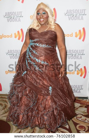 LOS ANGELES, CA. - APR 17: Singer Jaila Simms arrives at the 21st Annual GLAAD Media Awards at Hyatt Regency Century Plaza Hotel on April 17, 2010 in Los Angeles, CA.