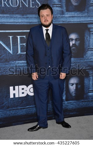 LOS ANGELES, CA. April 10, 2016: Actor John Bradley at the season 6 premiere of Game of Thrones at the TCL Chinese Theatre, Hollywood.