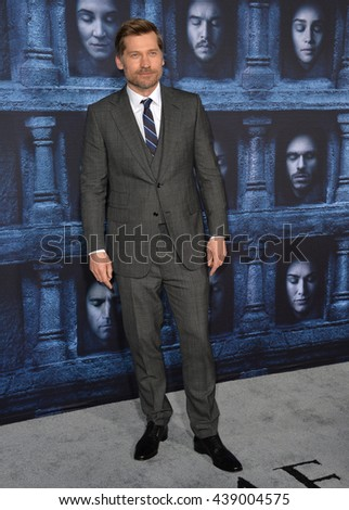 LOS ANGELES, CA. April 10, 2016: Actor Nikolaj Coster-Waldau at the season 6 premiere of Game of Thrones at the TCL Chinese Theatre, Hollywood.