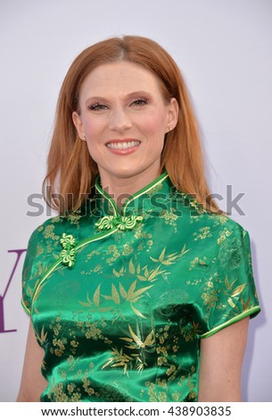 """LOS ANGELES, CA. April 13, 2016: Actress Lucy Walsh at the world premiere of """"Mother's Day"""" at the TCL Chinese Theatre, Hollywood. - stock photo"""