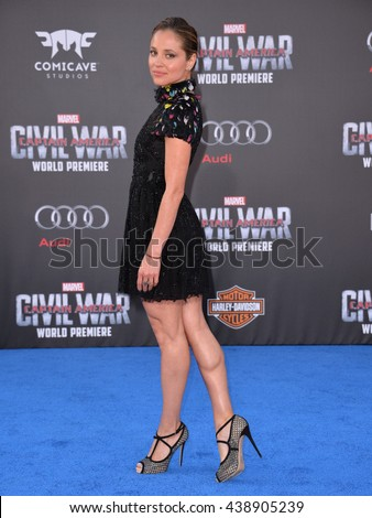 """LOS ANGELES, CA. April 12, 2016: Actress Margarita Levieva at the world premiere of """"Captain America: Civil War"""" at the Dolby Theatre, Hollywood. - stock photo"""