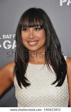 "LOS ANGELES, CA - APRIL 22, 2013: Cheryl Burke at the Los Angeles premiere of ""Pain & Gain"" at the Chinese Theatre, Hollywood."