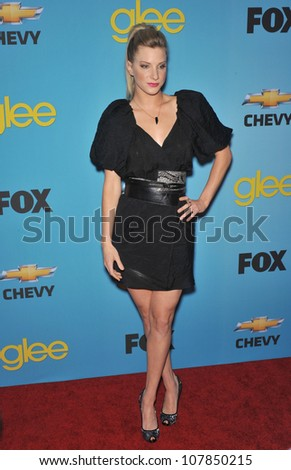 "LOS ANGELES, CA - APRIL 12, 2010: Heather Morris at the ""Glee"" spring series premiere party at Chateau Marmont, West Hollywood."