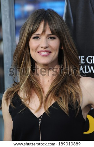 "LOS ANGELES, CA - APRIL 7, 2014: Jennifer Garner at the Los Angeles premiere of her movie ""Draft Day"" at the Regency Village Theatre, Westwood.  - stock photo"