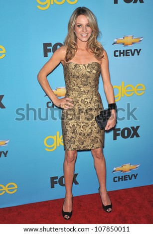 "LOS ANGELES, CA - APRIL 12, 2010: Jessalyn Gilsig at the ""Glee"" spring series premiere party at Chateau Marmont, West Hollywood."