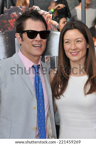 LOS ANGELES, CA - APRIL 13, 2014: Johnny Knoxville at the 2014 MTV Movie Awards at the Nokia Theatre LA Live.