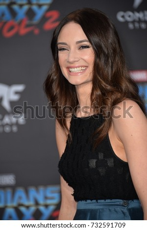"LOS ANGELES, CA - April 19, 2017: Mallory Jansen at the world premiere for ""Guardians of the Galaxy Vol. 2"" at the Dolby Theatre, Hollywood."