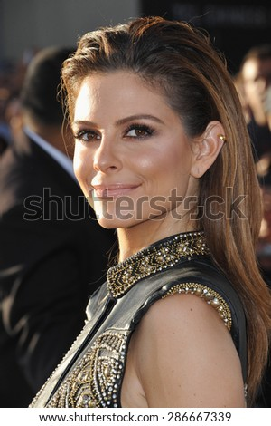 """LOS ANGELES, CA - APRIL 1, 2015: Maria Menounos at the world premiere of """"Furious 7"""" at the TCL Chinese Theatre, Hollywood.  - stock photo"""