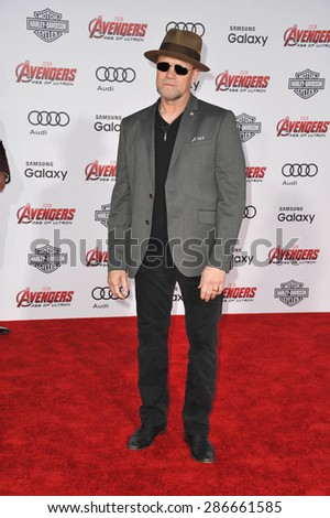 "LOS ANGELES, CA - APRIL 13, 2015: Michael Rooker at the world premiere of ""Avengers: Age of Ultron"" at the Dolby Theatre, Hollywood.  - stock photo"