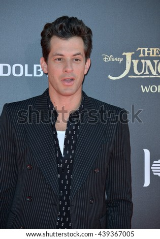"""LOS ANGELES, CA. April 4, 2016. Musician Mark Ronson at the world premiere of """"The Jungle Book"""" at the El Capitan Theatre, Hollywood. - stock photo"""